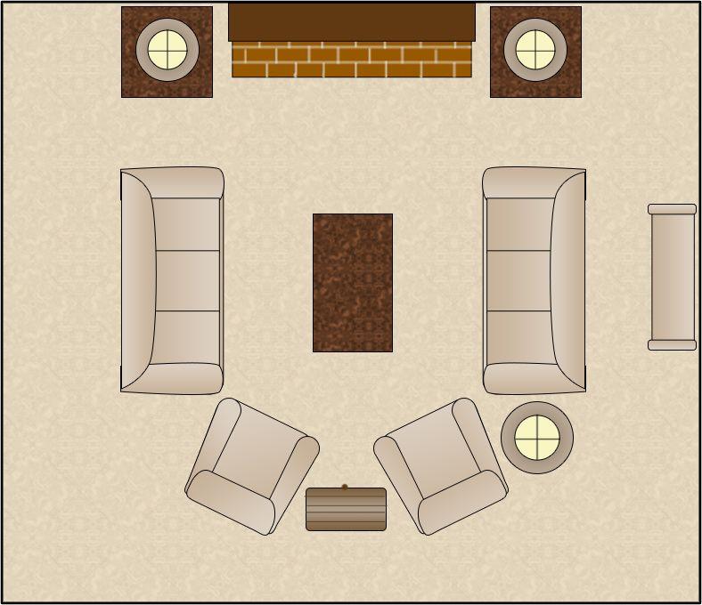 Living Room Arrangement Symmetical
