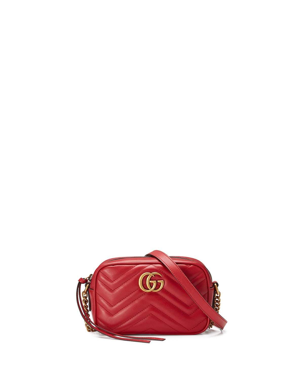 c44c859f2c1 Gucci GG Marmont Mini Matelassé Camera Bag