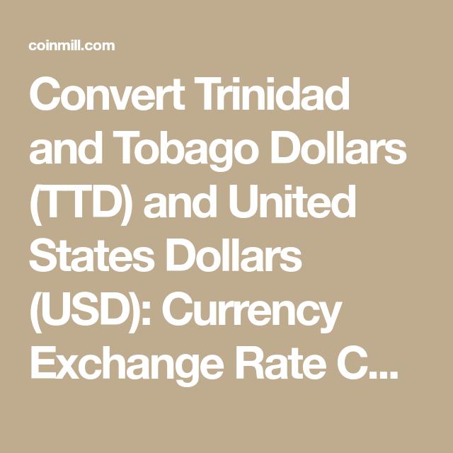 Convert Trinidad And Tobago Dollars