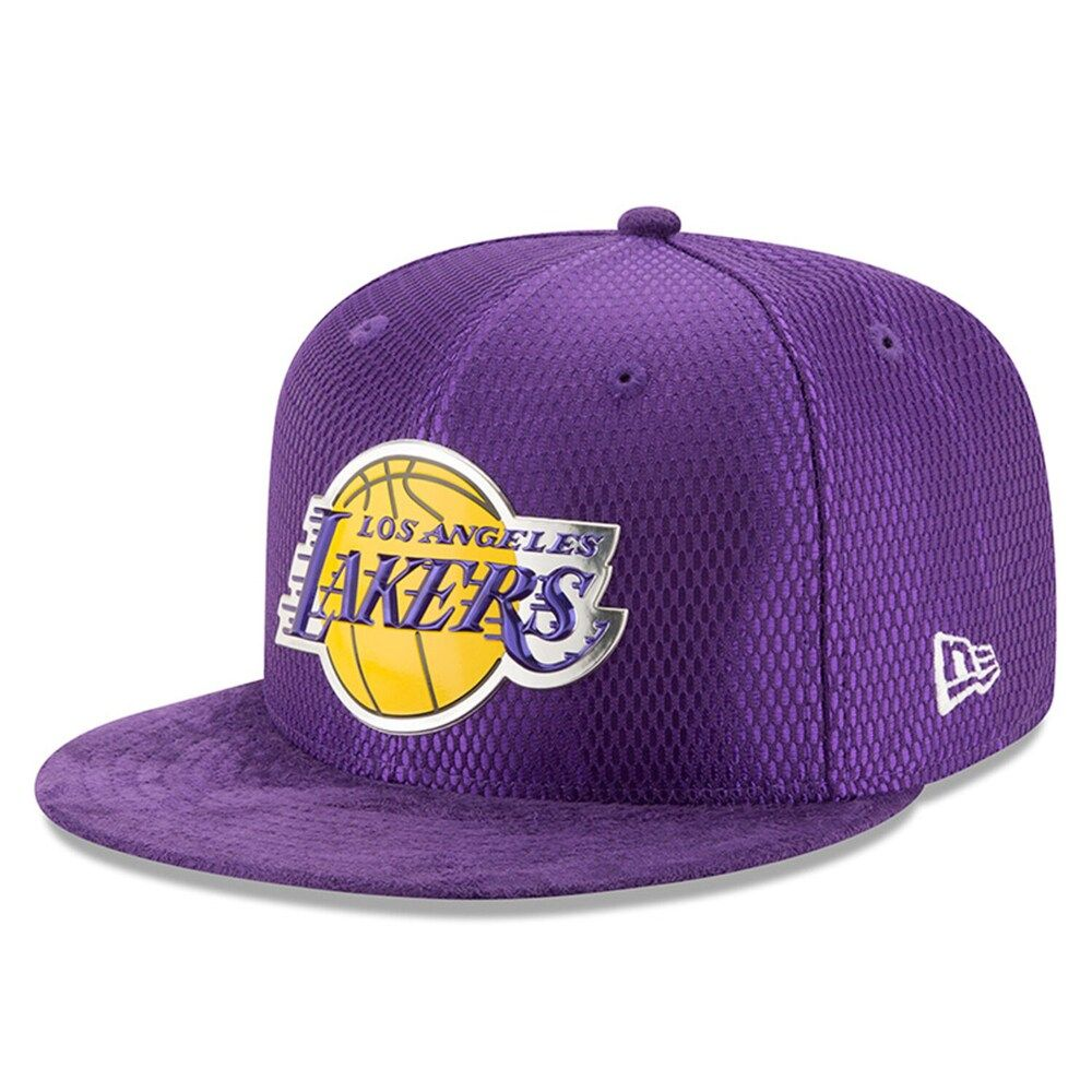 Men S New Era Purple Los Angeles Lakers 2017 Nba Draft Official On Court Collection 59fifty Fitted Hat In 2020 Los Angeles Lakers Fitted Hats La Lakers Jersey