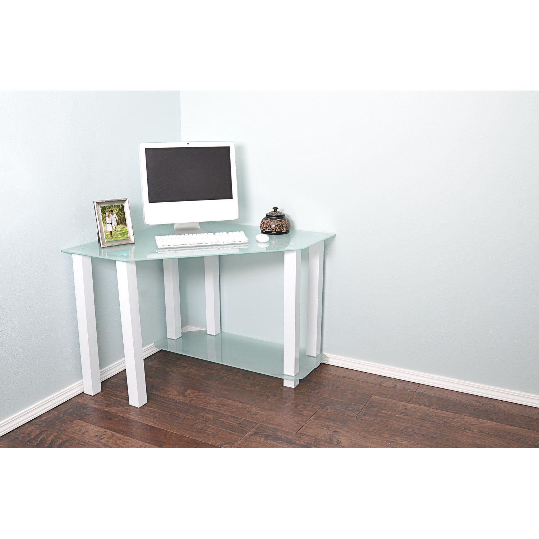 Small Glass Corner Computer Desk Luxury Living Room Furniture