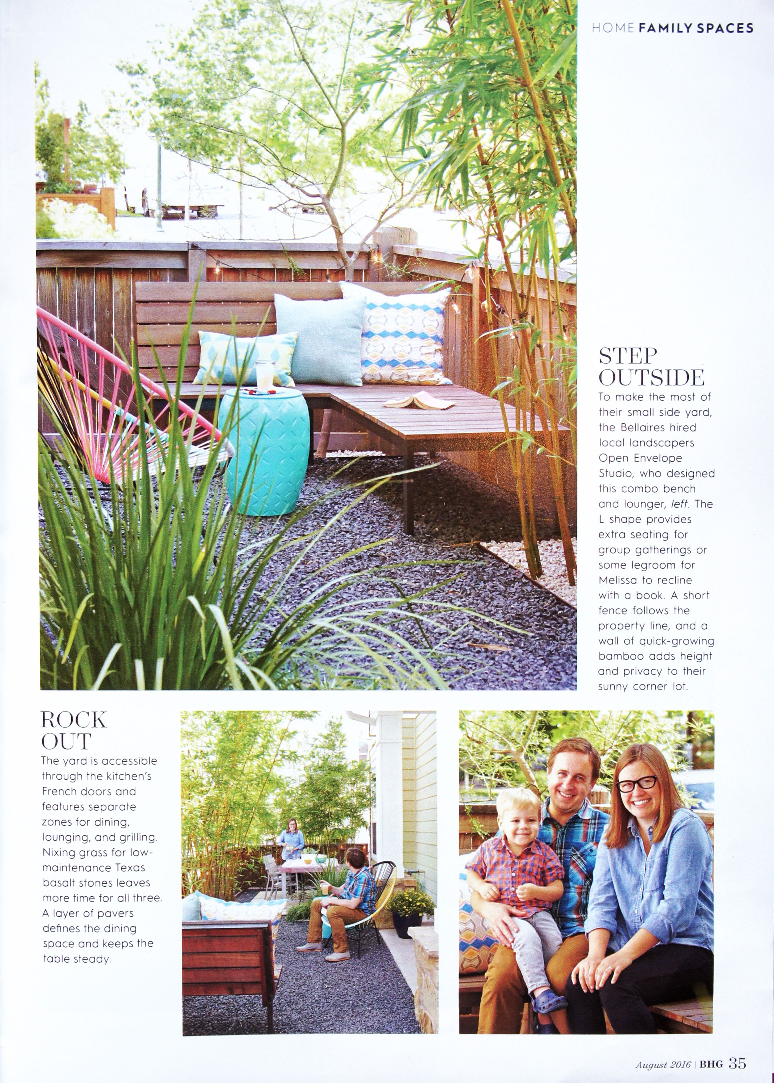 OES | Bellaire Residence: small space patio with pavers