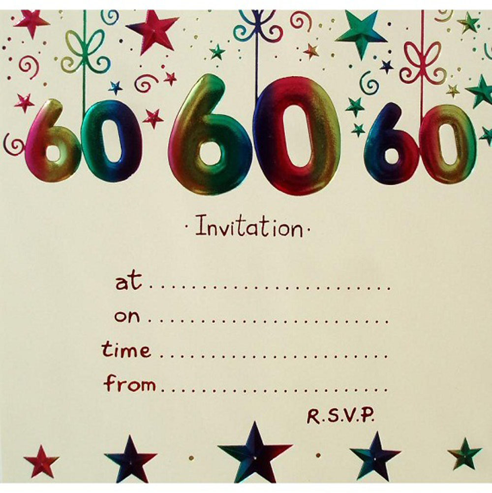 20 Ideas 60th Birthday Party Invitations Card Templates Birthday Party Invit 60th Birthday Party Invitations 60th Birthday Invitations Party Invite Template