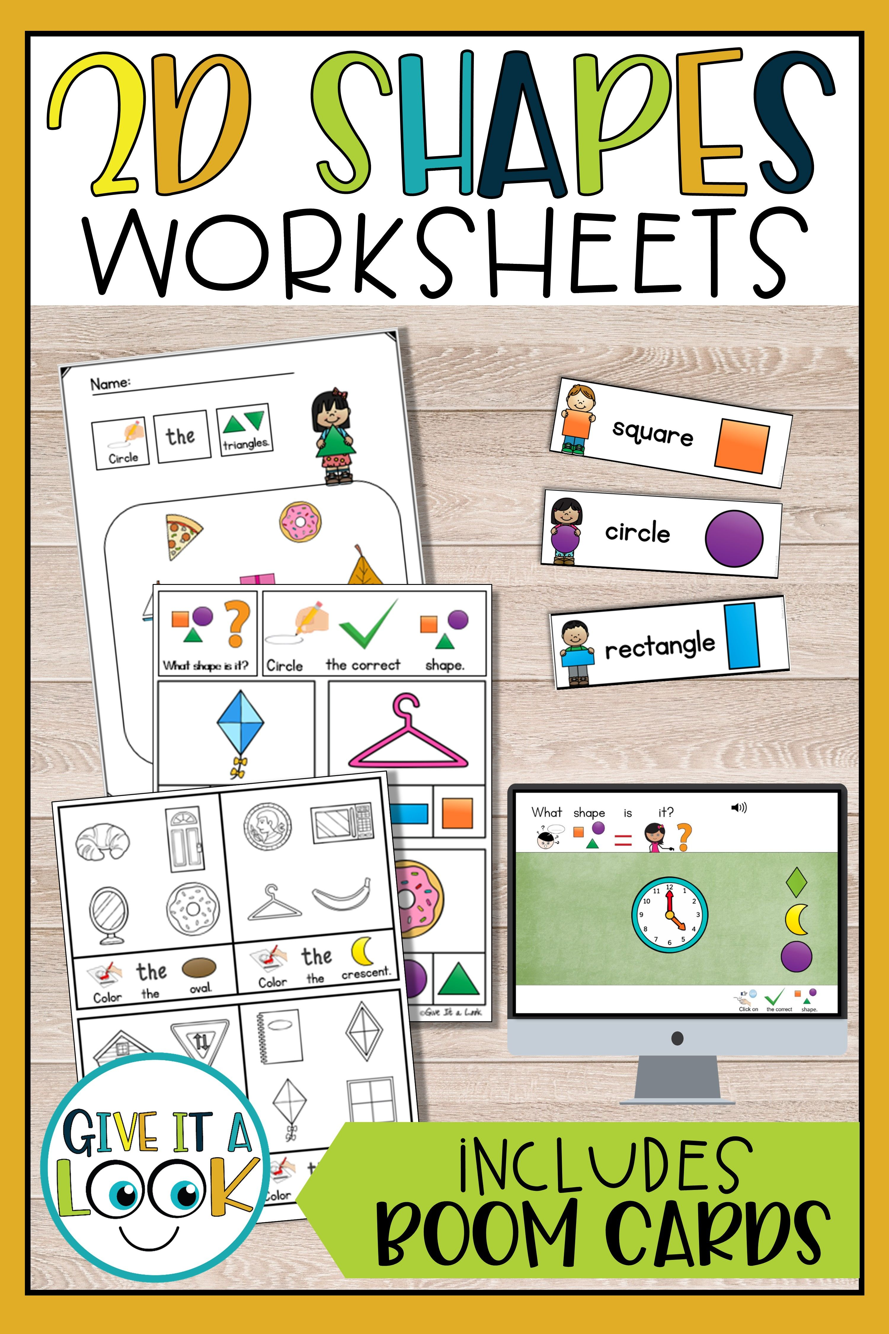 2d Shapes Worksheets In With Images