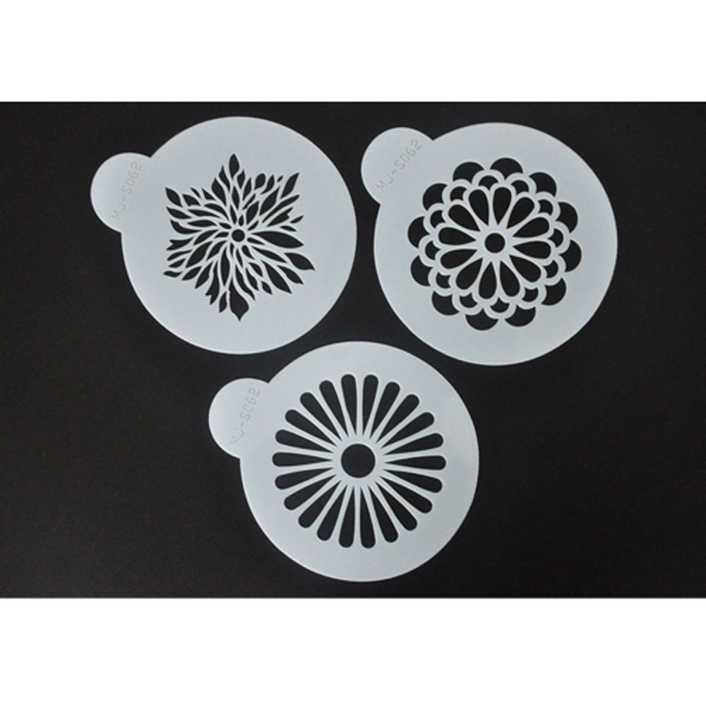 FOUR-C Pack of 3 Coffee Cake Stencil Set by Designer Stencils Decorating Tools in Crafts, Cake Decorating | eBay