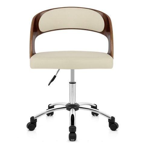 Evergreen Office Chair Walnut And Cream Atlantic Ping