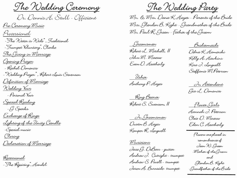 Filipino Catholic Wedding Program Luxury Creative Wedding Programs Ceremony Outline Wedding Ceremony Outline Wedding Program Examples