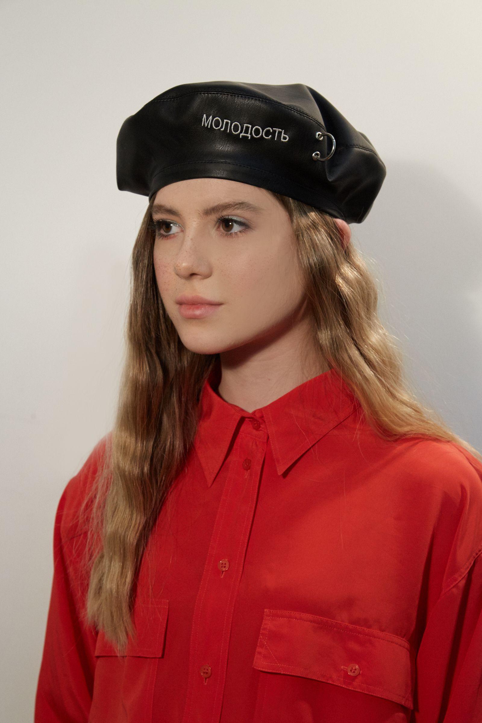 Beret aesthetic hat beret hats for women black leather