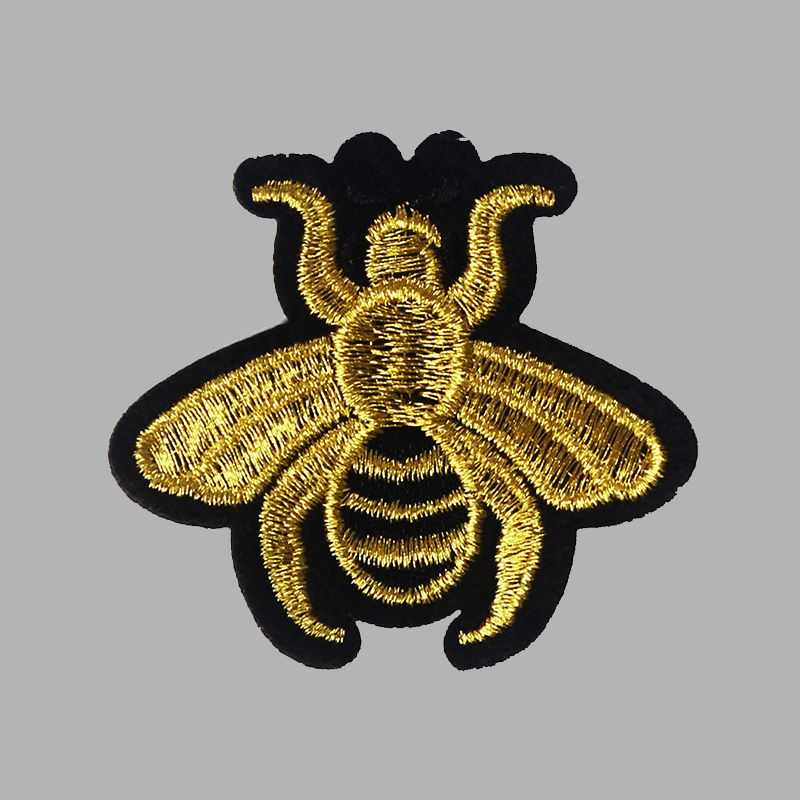 Yellow Jacket Bee Iron-on Embroidered Hard Rock Band Patch