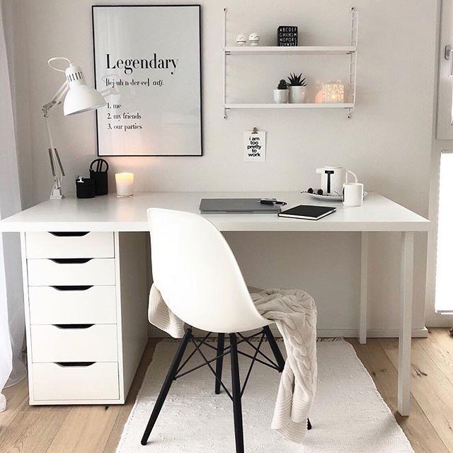 Modern Whitehome Office Desk