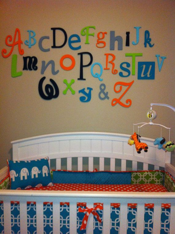 Wooden Alphabet Letter Set Painted 5 To 10 Letters Abc Wall Decor Hanging Nursery