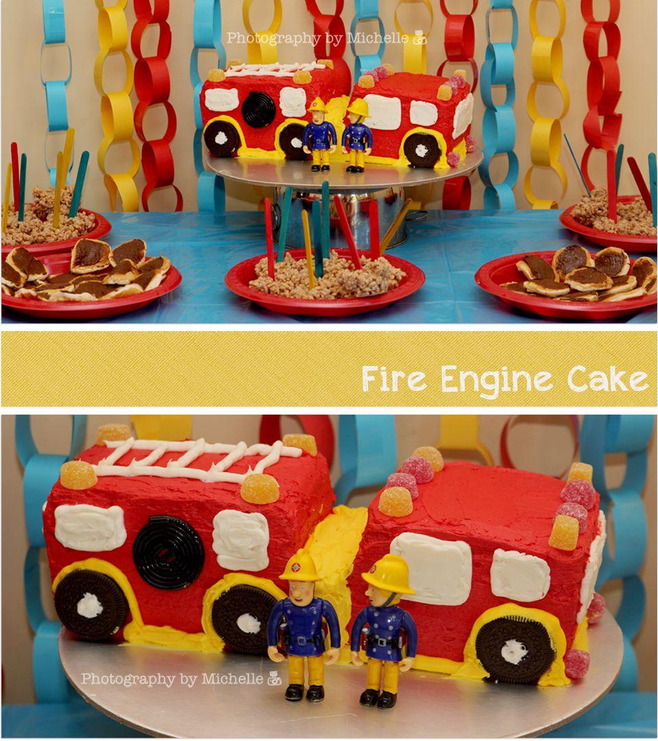Fireman Sam Party Ideas Birthdays Pinterest Fire Engine Cake