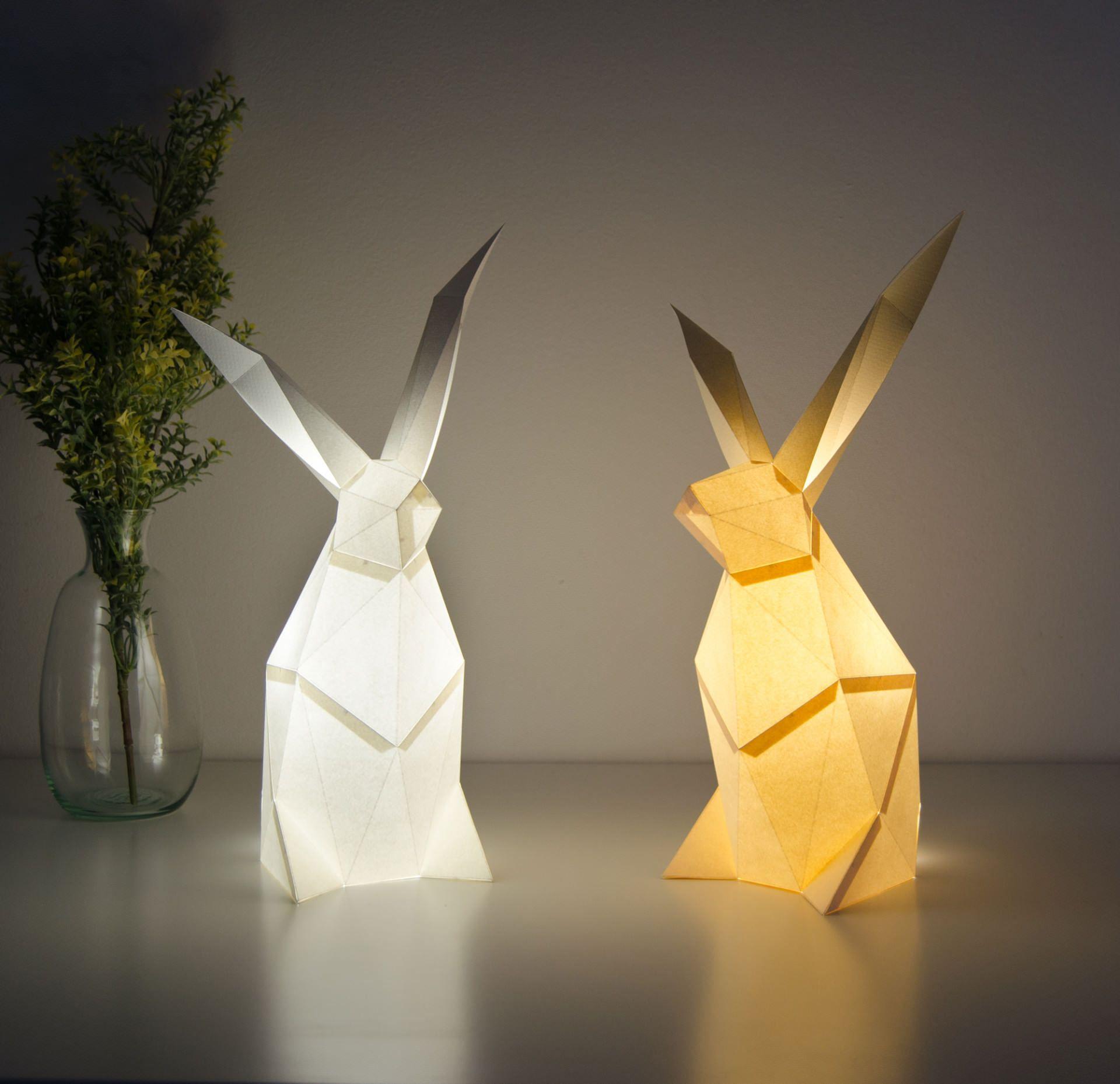 Le lampade geometriche a forma di animali di OWL Origami