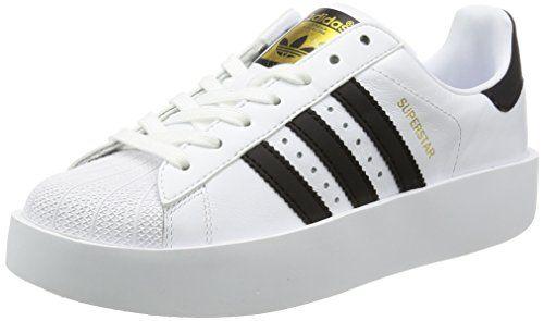 Adidas Superstar Metal Toe W, Zapatillas de Deporte para Mujer, Blanco (Ftwbla/Ftwbla/Negbas), 42 2/3 EU