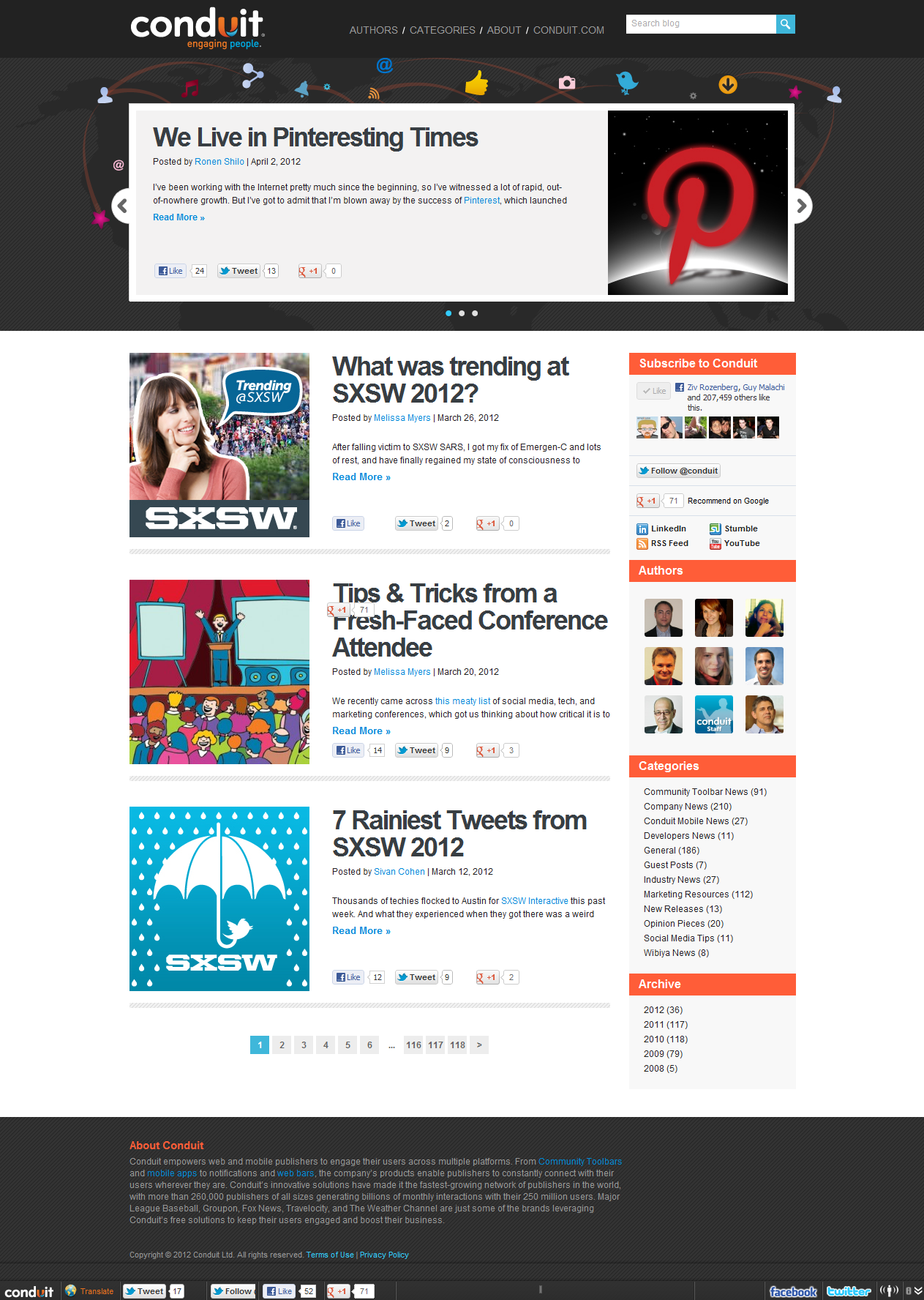Read on Conduit Blog all the tech news, social media tips, exciting technology thought pieces, the latest and most exciting industry products and how