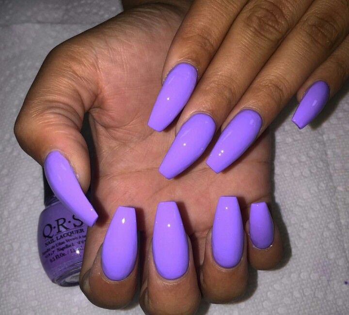 Purple nails | Purple acrylic nails, Nail art summer, Neon ...