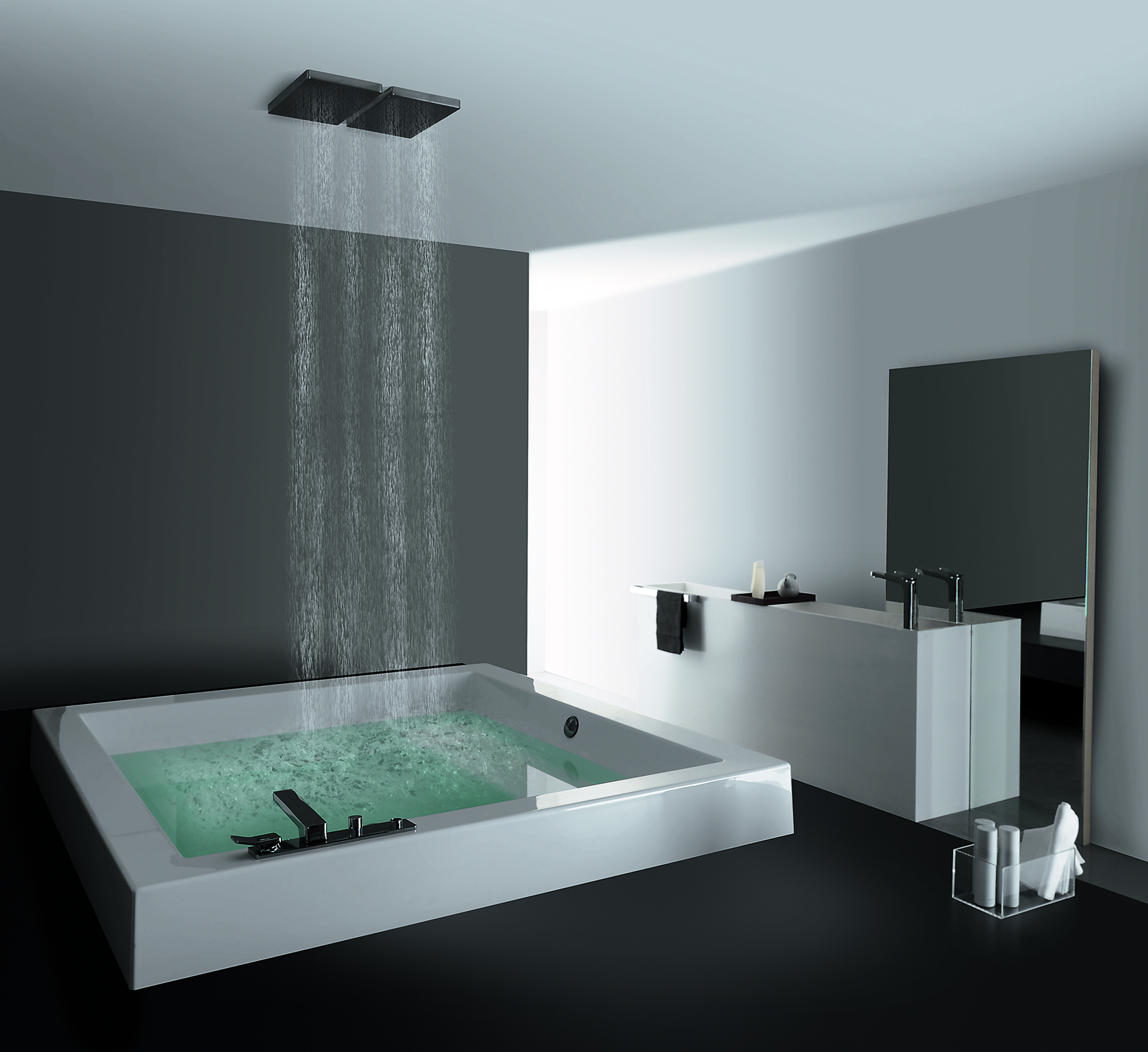 Zucchetti.Kos Grande Step Quadra bath tub   BATHROOM COMFORT ...