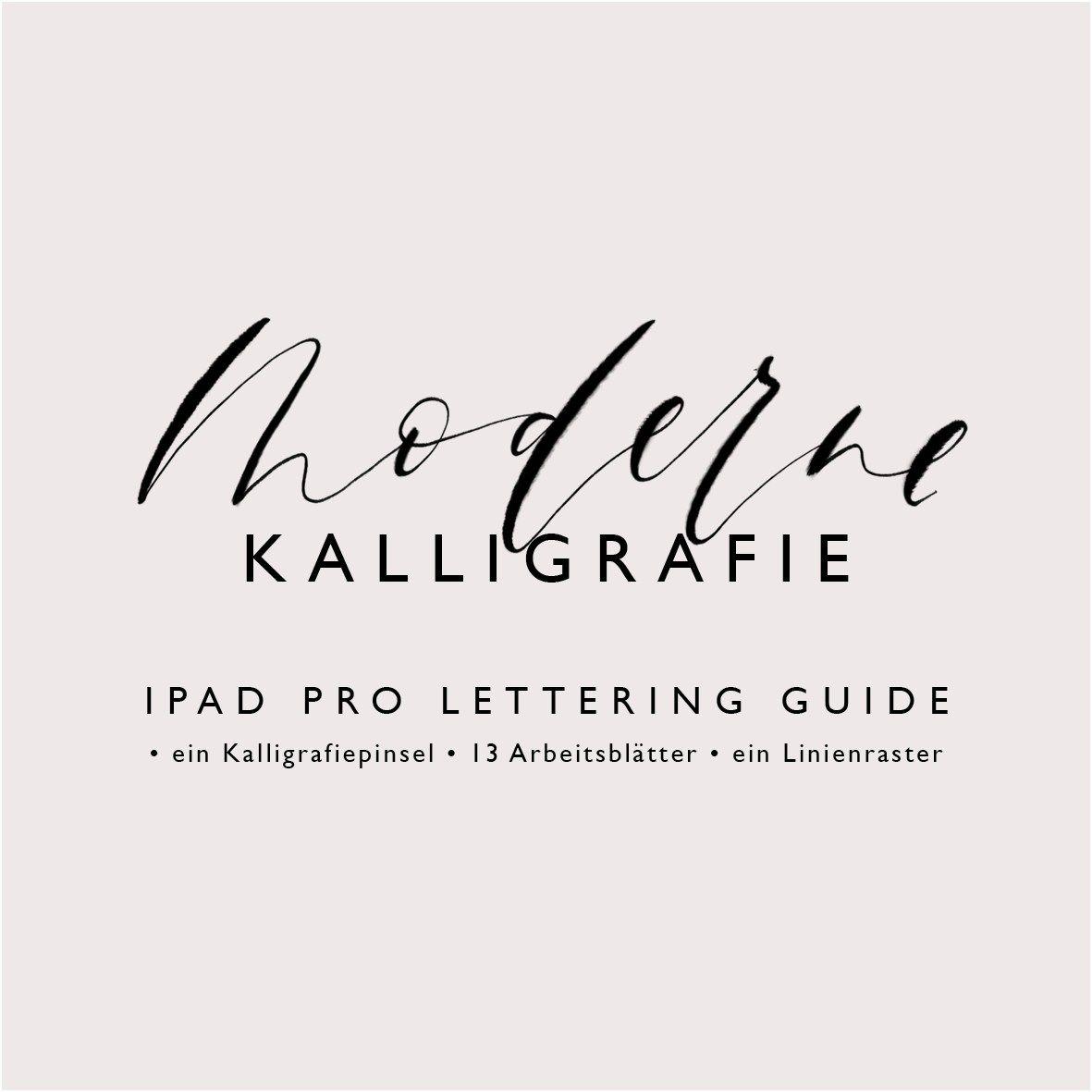 iPad Pro Lettering Guide Moderne Kalligrafie