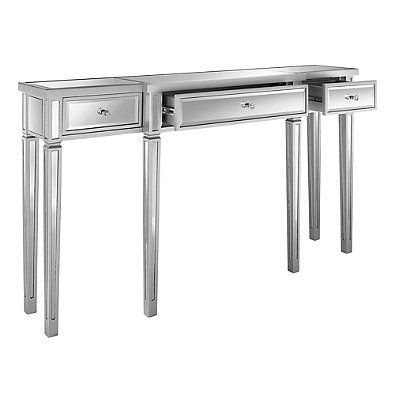 mirrored drawers outthereinteriors with original two drawer product table console