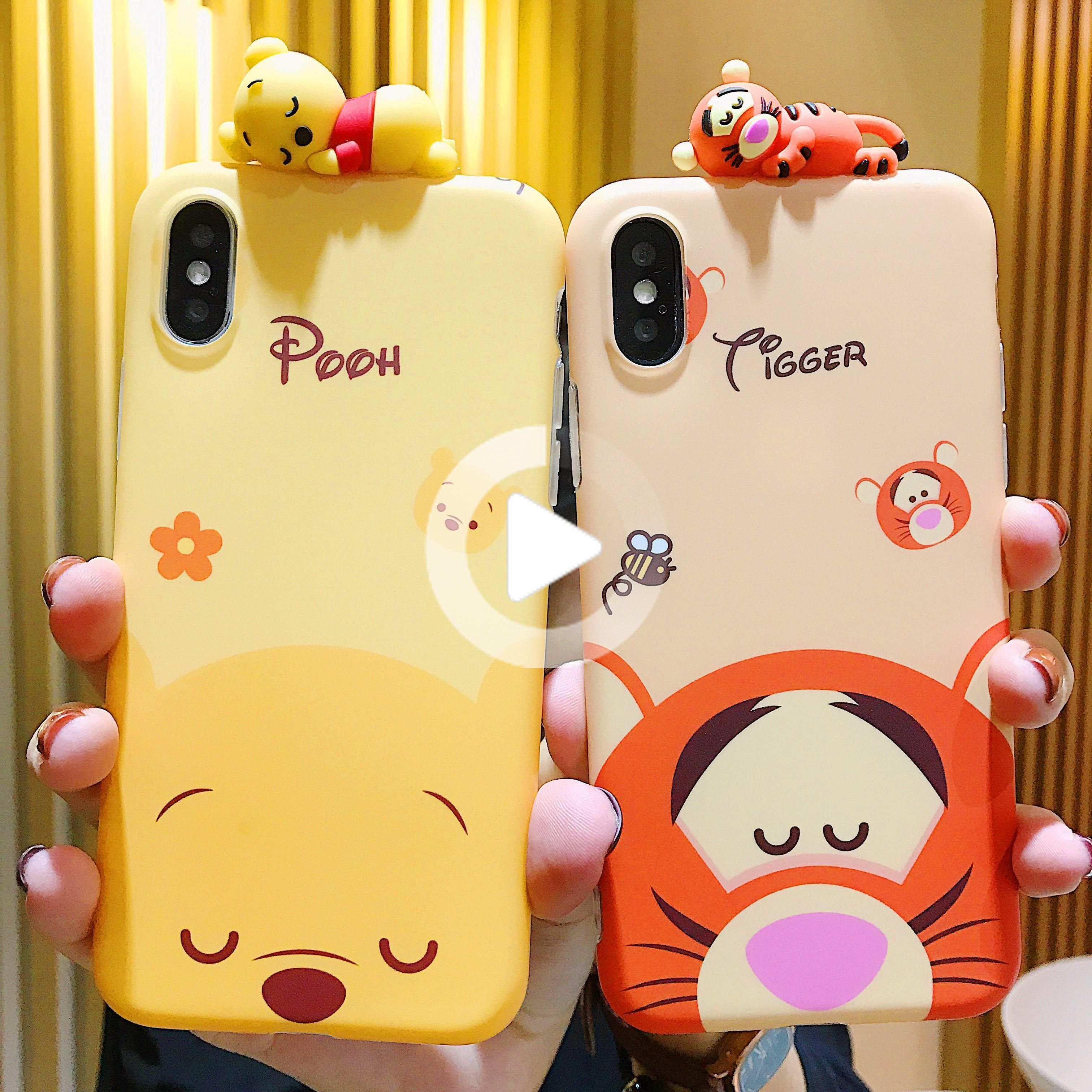 Kawaii Winnie And Tiger Phone Case for iphone 6/6s/6plus/7