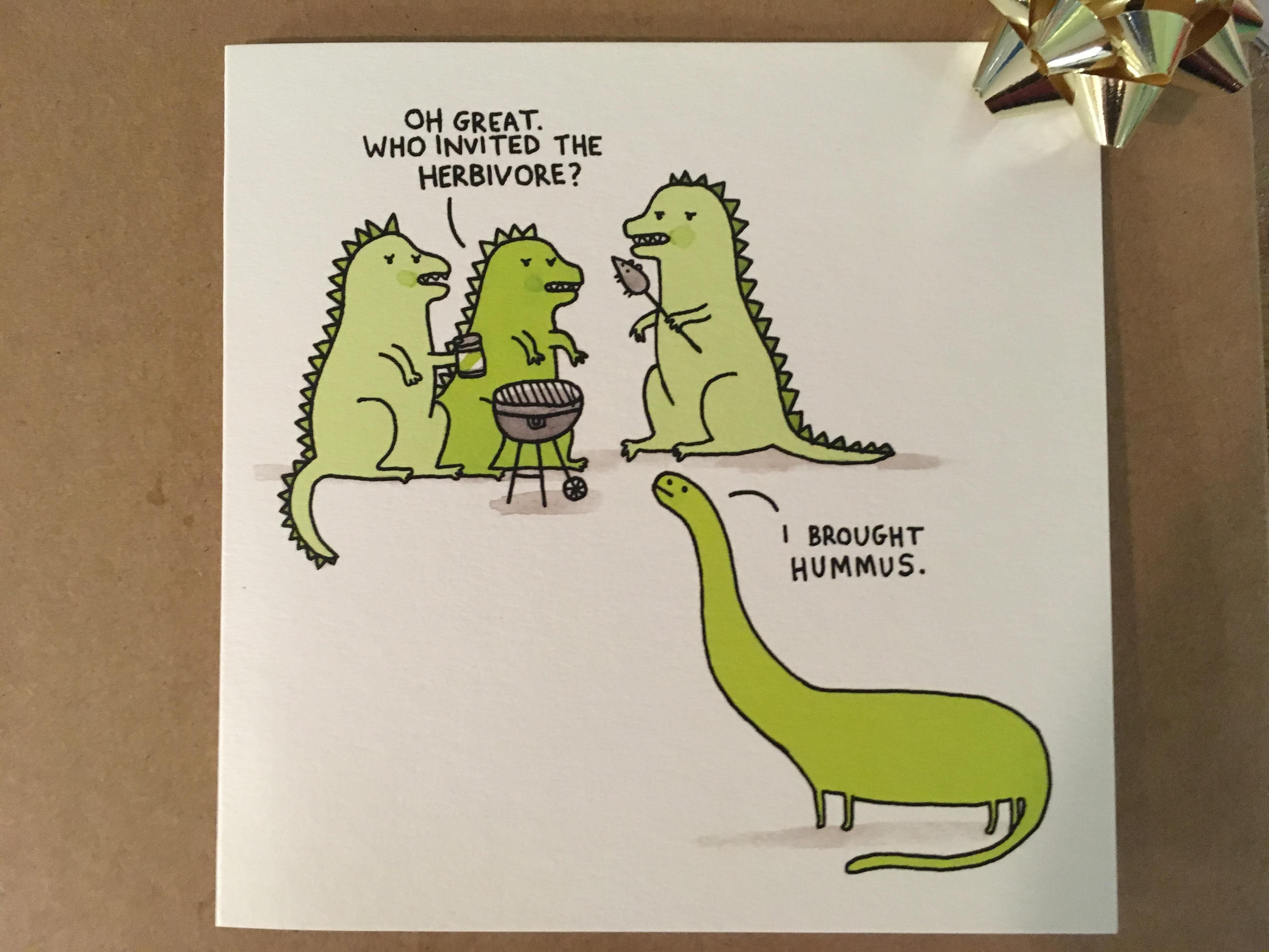 The Birthday Card I Received From My Vegetarian Brother Funny Birthday Cards Funny Vegan Memes Funny Gif