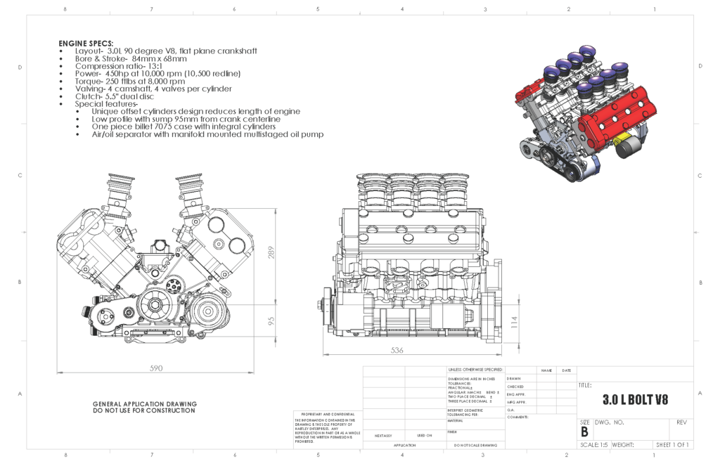 Hartley 3 0 L BOLT V8 diagram | Hayabusa | Diagram, Puzzle, Engineering
