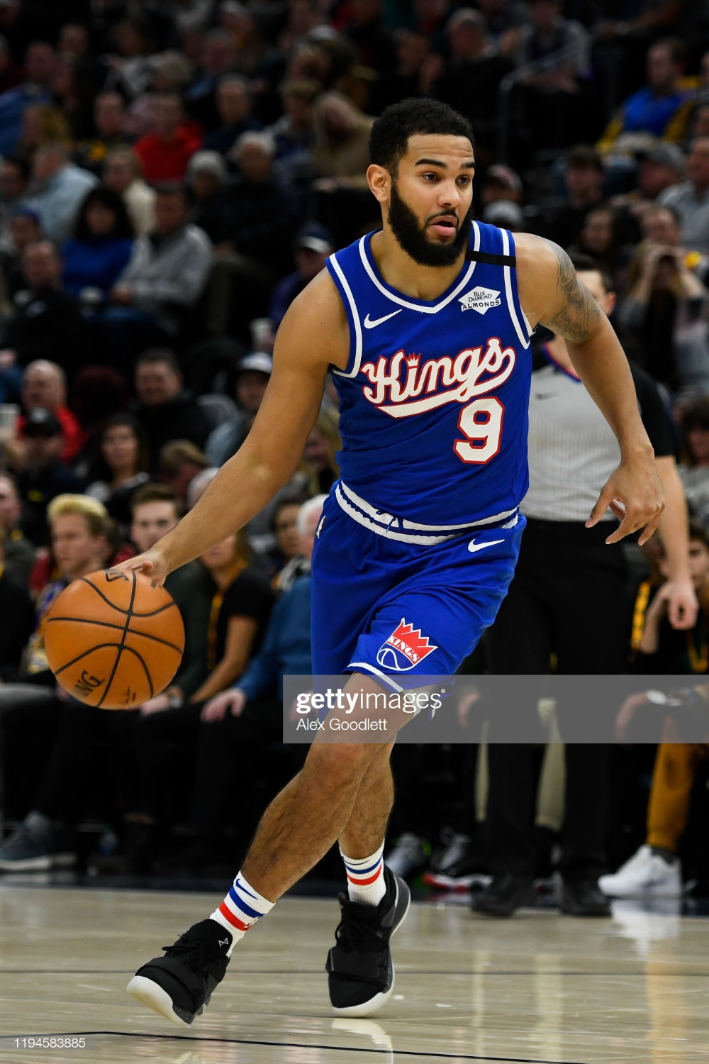 Cory Joseph of the Sacramento Kings in action during a