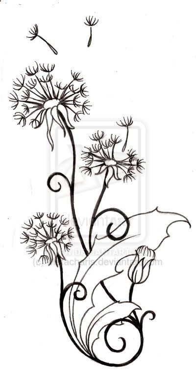 Dandelion Tattoo by Metacharis