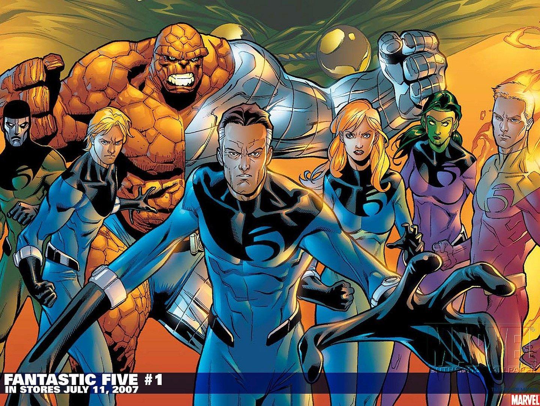 Desktop Wallpaper For Fantastic Five Marvel Comics Wallpaper Marvel Comic Character Character Wallpaper