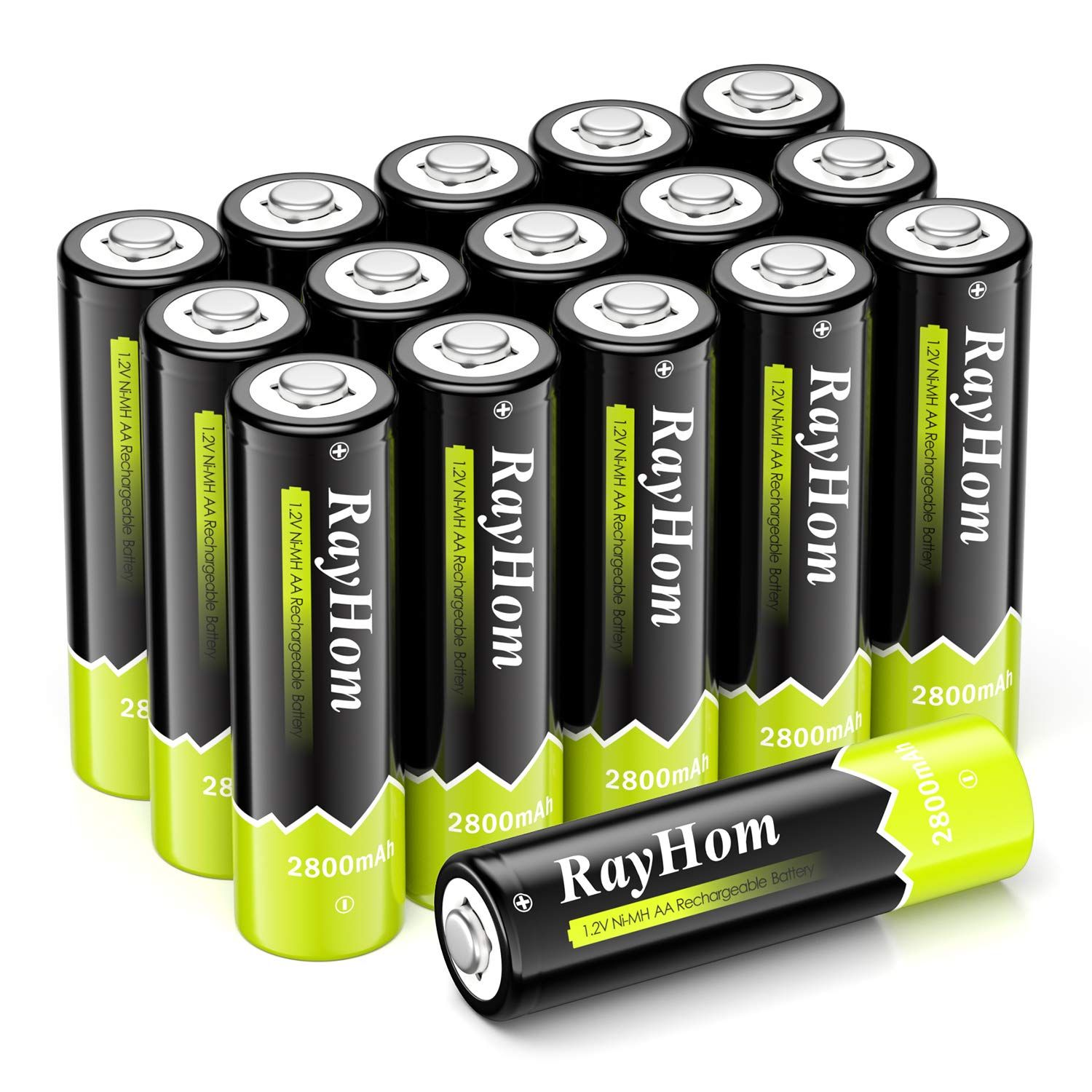 Rayhom Aa Rechargeable Batteries 2800mah Ni Mh Battery 16 Pack To View Further For This It Household Batteries Rechargeable Batteries Aaa Battery Charger
