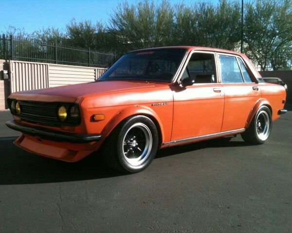 Datsun 510 4dr W Bre Fender Flares Front Lip And Rear Spoiler