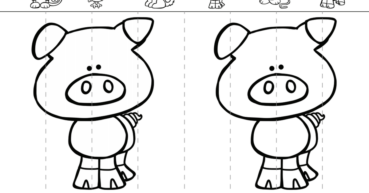 pig.pdf Google Drive Coloring bookmarks, Chinese new