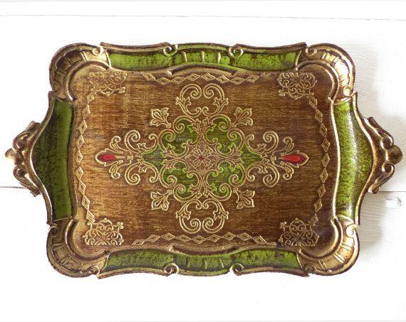 Decorative Trays Simple Vintage Italian Florentine Tray  Florentine  Pinterest  Vintage Inspiration
