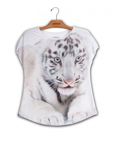 Camiseta Baby Tigre Branco www.usenatureza.com #UseNatureza #JeffersonKulig