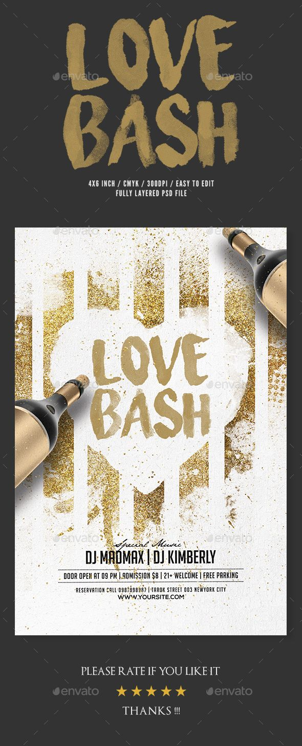 Love Bash Party Flyer Party Flyer Event Flyer Templates And Event