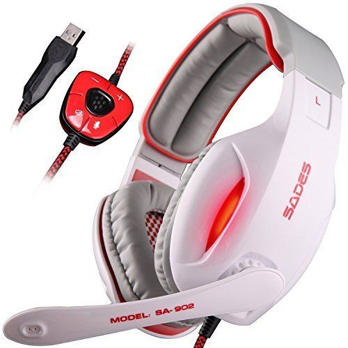 SA902 7.1 Channel Virtual USB Surround Stereo Wired PC Gaming Headset Over Ear