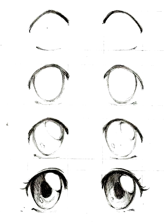 Girl Drawing Easy Step By Step Drawing Tutorial Black And White Pencil Sketch Black Drawin Anime Eye Drawing Eye Drawing Tutorials Manga Drawing Tutorials
