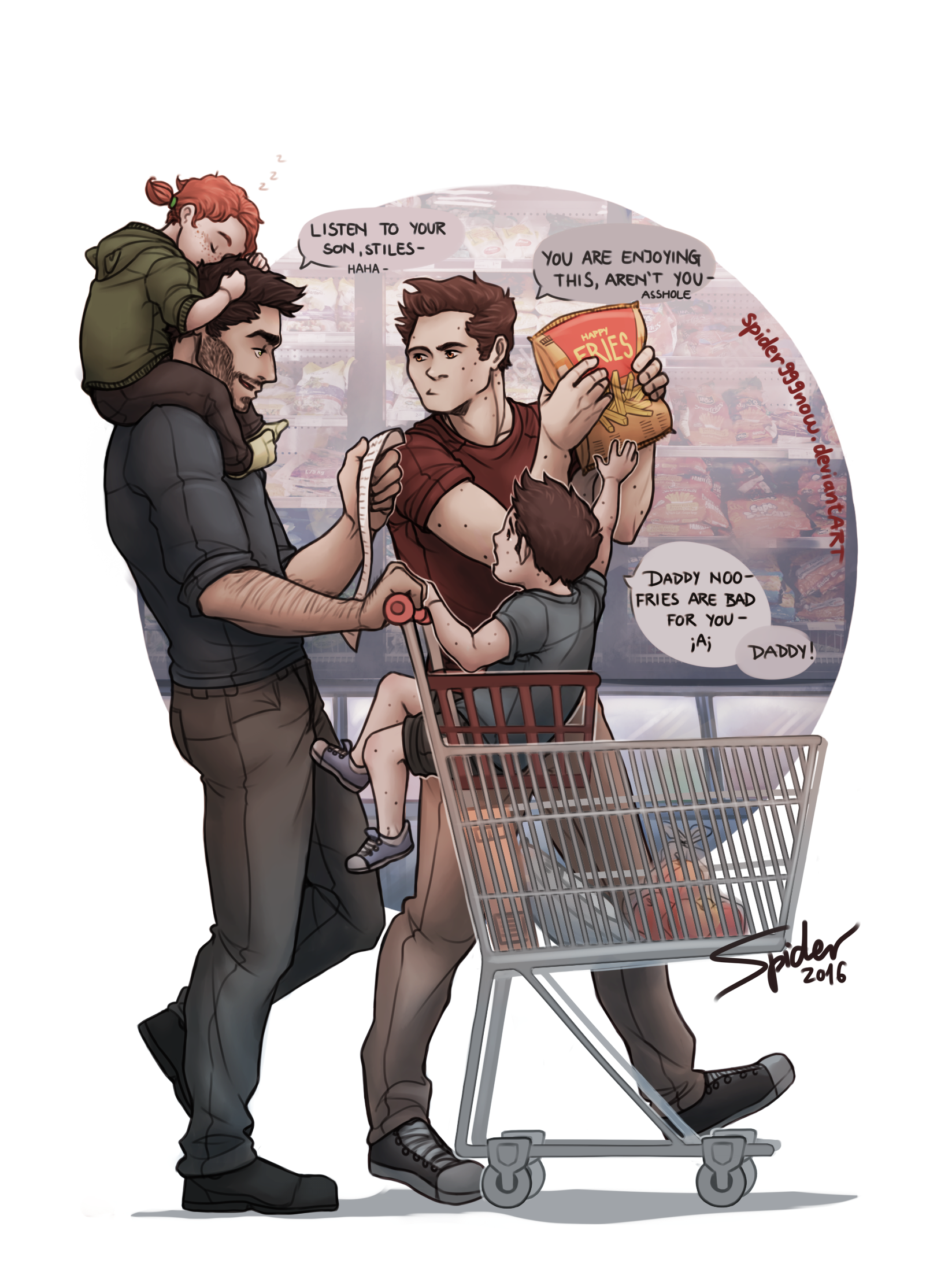 Grocery Shopping By Spider999Now On Deviantart
