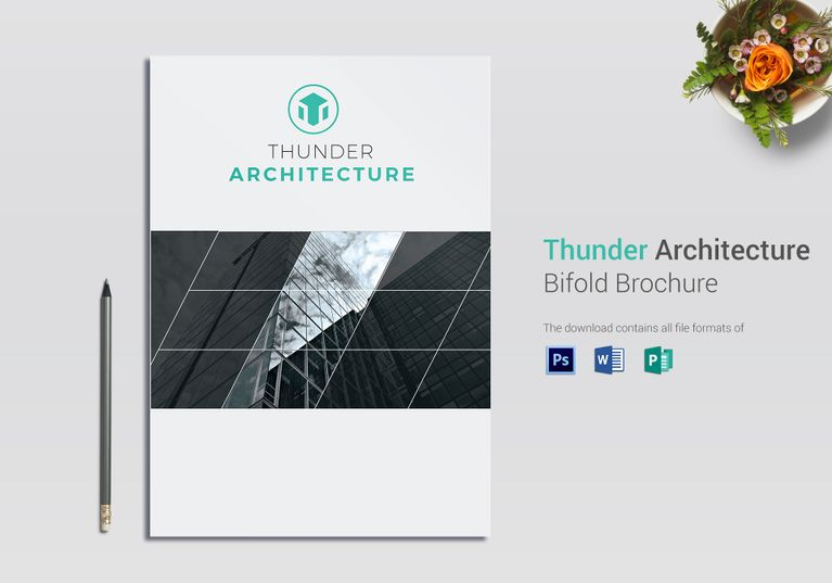 Thunder Architecture Brochure Template $16 Formats Included  MS - ms word pamphlet template