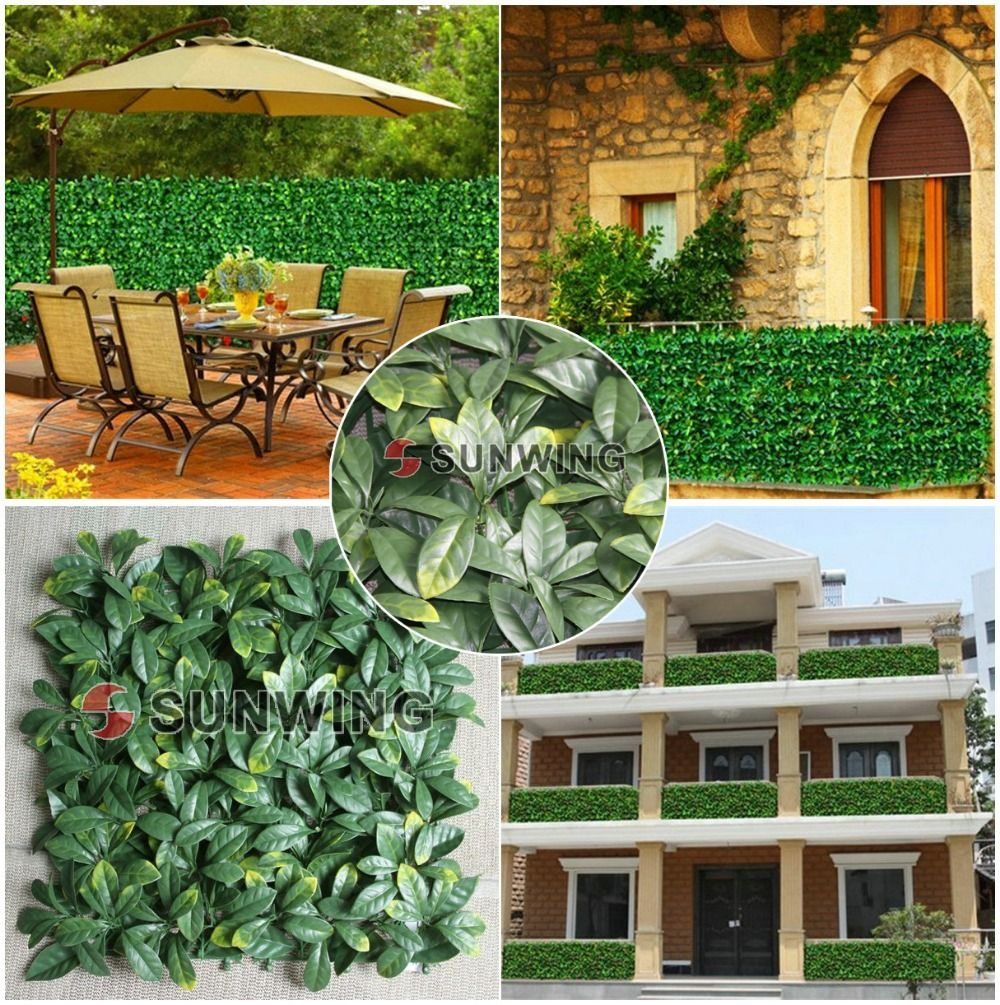 artificial Osmanthus leaf,privacy fencing,balcony,wall decoration ...