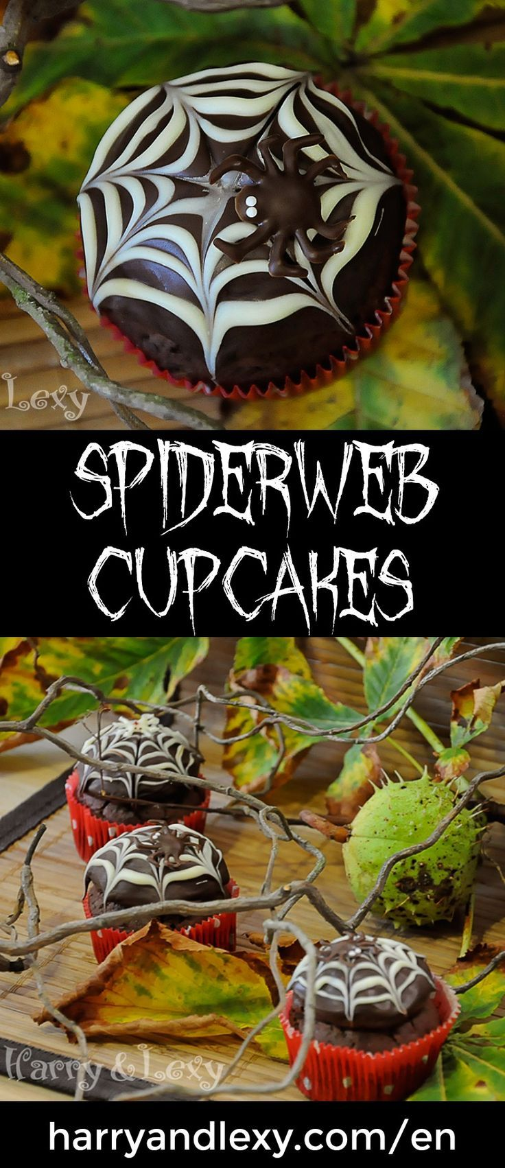 halloween spiderweb cupcakes harry and lexys workshop - Halloween Chocolate Spiders