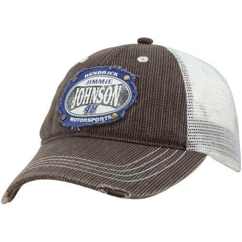 dc97da63 Jimmie Johnson #48 Lowe's Fall Mesh Trucker Hat - http://www.
