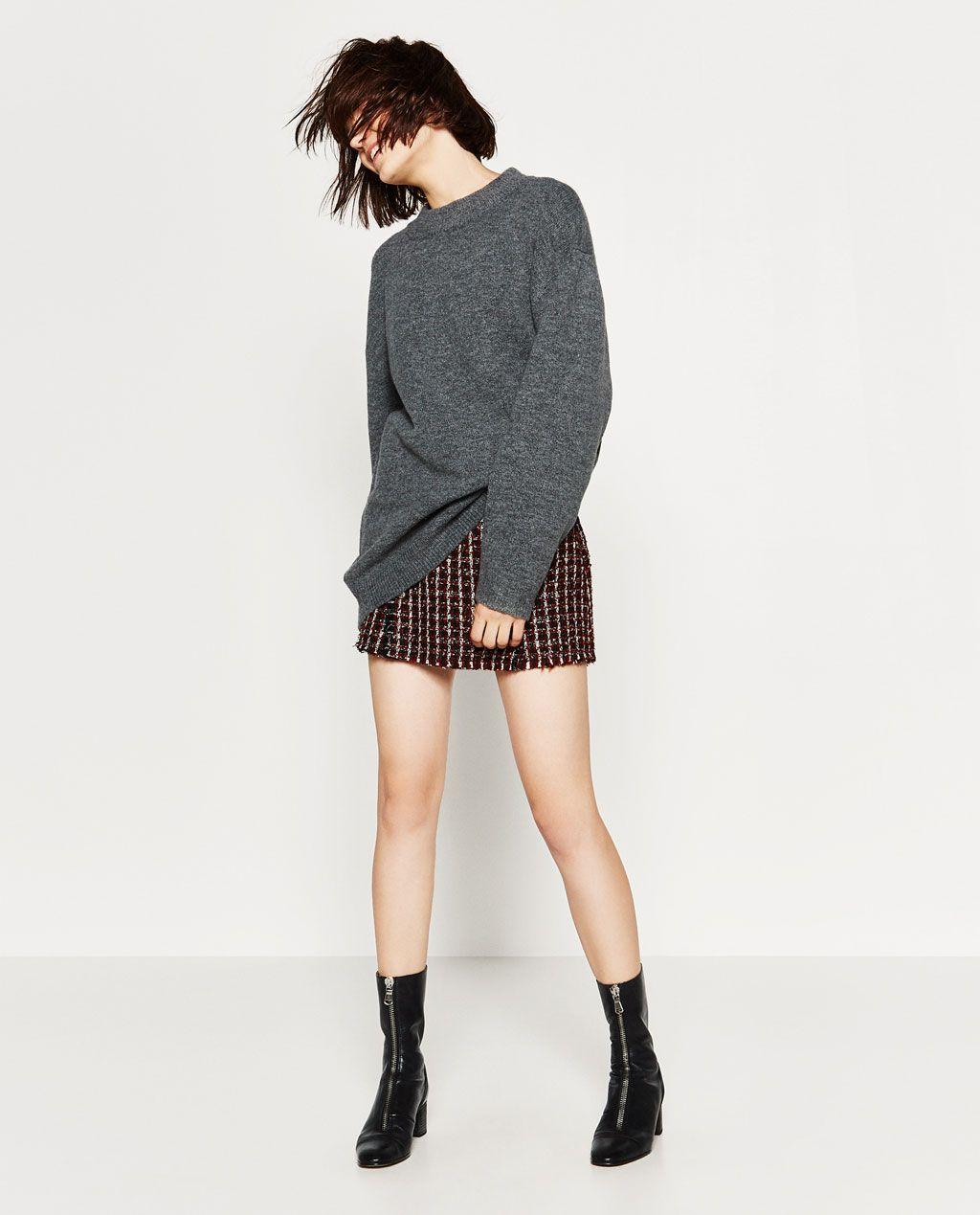 SOFT OVERSIZED SWEATER-Sweaters-KNITWEAR-WOMAN | ZARA United ...
