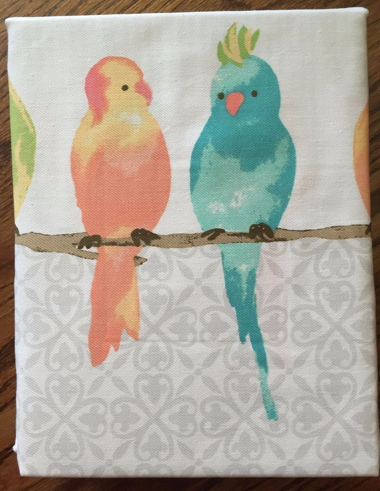 Cynthia Rowley New York Fabric Shower Curtain Parakeets Tropical