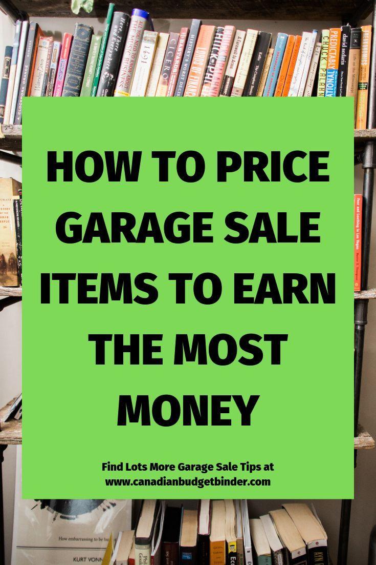 How To Price Garage Sale Items Garage sale tips, Garage