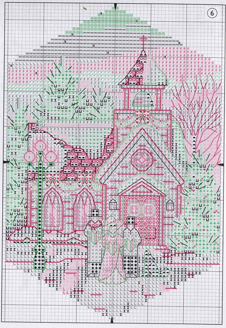 схему вышивки santas village от little house needleworks