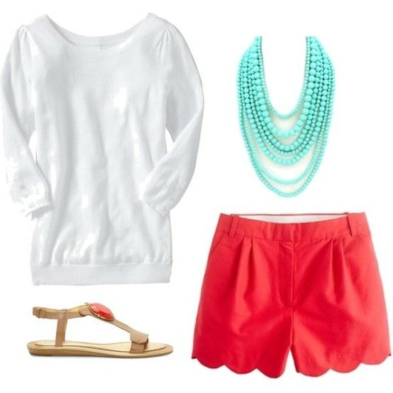 Turquoise and coral color combo