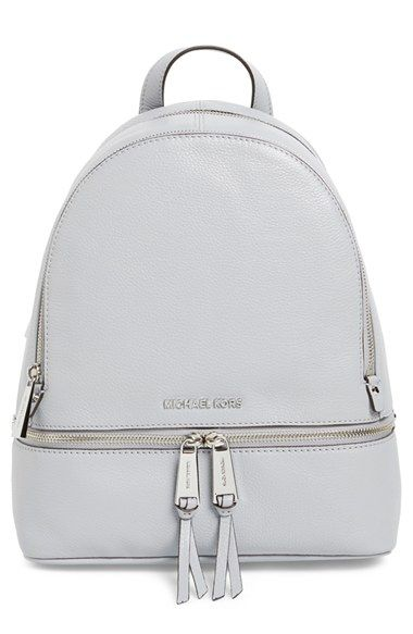 519215c4dee6 MICHAEL MICHAEL KORS  Small Rhea Zip  Leather Backpack.  michaelmichaelkors   bags  leather  lining  backpacks