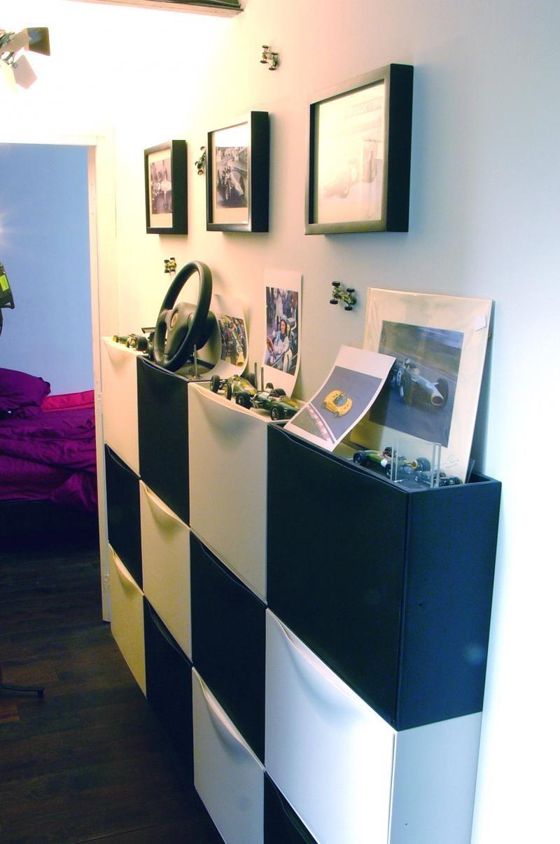 meuble de rangement pour chaussures am nagement entr e pinterest rangement pour chaussures. Black Bedroom Furniture Sets. Home Design Ideas