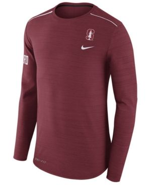Nike Men s Stanford Cardinal Dri-Fit Breathe Long Sleeve T-Shirt - Red 88401b2f7ba